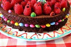 第21生日蛋糕 库存照片