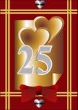 第25个周年纪念看板卡 免版税库存图片