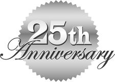 第25个周年纪念eps密封 库存图片