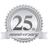 第25个周年纪念eps密封 免版税库存照片