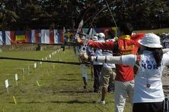 第25射箭universiade 库存图片