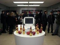 第33个周年纪念苹果组橡皮防水布会议 图库摄影