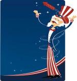 第4个庆祝7月山姆伯父 免版税库存图片