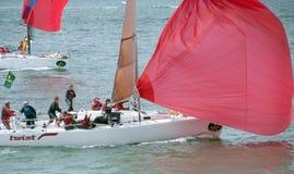 第45条大小船赛跑rolex系列游艇 免版税库存照片