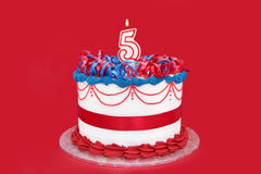 第5个蛋糕 库存图片