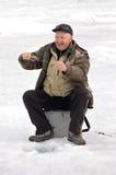 第5个贝加尔湖捕鱼 库存图片