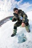 第5个贝加尔湖捕鱼 免版税库存图片