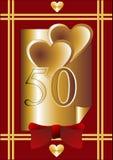 第50个周年纪念看板卡 库存照片