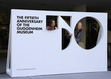 第50个周年纪念guggenheim博物馆 免版税库存图片