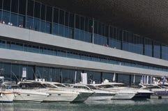 第50个小船编辑热那亚意大利显示 图库摄影