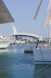 第50个小船编辑热那亚意大利显示 库存图片