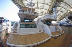 第50个小船编辑热那亚显示 免版税库存图片