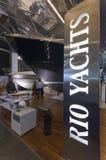 第50个小船编辑热那亚显示 库存照片