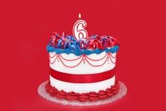 第6个蛋糕 库存照片