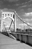 第6在allegheny桥梁河街道间 库存照片