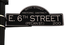 第6条奥斯汀街道得克萨斯 库存图片