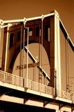 第6条allegheny桥梁河街道 库存照片