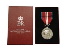 第60或第75周年纪念奖牌 免版税库存照片