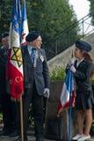 第66周年纪念法国解放巴黎 库存照片
