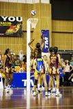 第7个活动亚洲冠军少女玩的篮球赛 库存图片