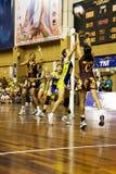 第7个活动亚洲被弄脏的冠军少女玩的 库存照片