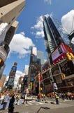 第7个ave城市新的方形时间约克 免版税库存照片