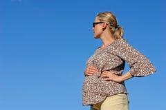 第7次月怀孕 免版税图库摄影