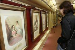第75辆周年纪念标号地铁莫斯科 库存照片