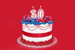 第80个蛋糕 库存图片