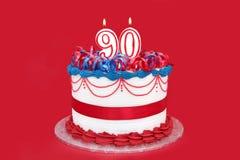 第90个蛋糕 免版税库存照片