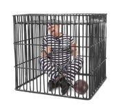 笼子的囚犯 免版税库存照片