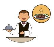等候人员 承办酒席职员 餐馆队 免版税库存图片