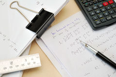 等式算术 库存图片