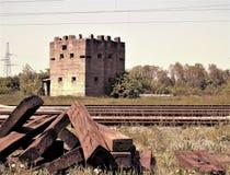 等待一场新的战争的老地堡 免版税库存照片