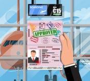 等待的大厅在机场passanger终端  免版税库存图片