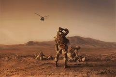 等待的救伤直升机鸟 免版税库存照片