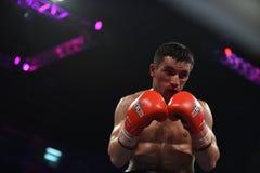 等级拳击战斗在体育宫殿,基辅 免版税库存图片