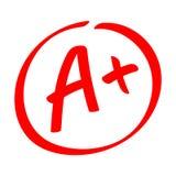 等级结果- A 与加号的手拉的传染媒介等级在圈子 向量例证