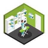 等量专业清洁服务模板 库存例证