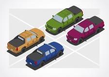 等量世界的提取汽车 免版税库存照片