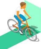 等量健身骑自行车者 图库摄影