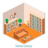等量内部家庭书库 免版税图库摄影