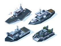 等量军用的小船 传染媒介美国人海军 向量例证