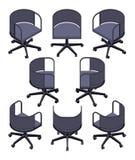 等量办公室转动的椅子 库存照片