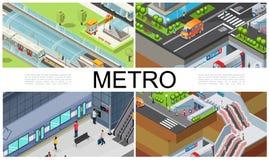 等量城市地铁构成 库存例证