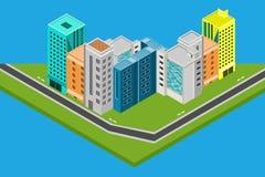 等量城市设计房子,大厦导航例证 库存图片