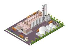 等量工厂厂房构成有设施的看法 库存例证