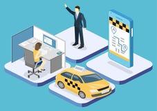等量平的3D概念出租汽车运输业务 皇族释放例证