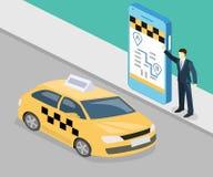 等量平的3D概念出租汽车运输业务 库存例证