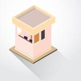 等量平的3D设计安全的小屋-导航例证 库存例证